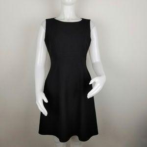 Elie Tahari Black Career Sheath Sleeveless Dress